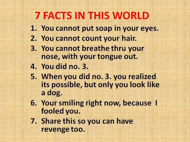 7 facts in the world